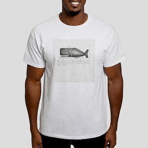 Vintage Whale Shower Curtain Light T-Shirt