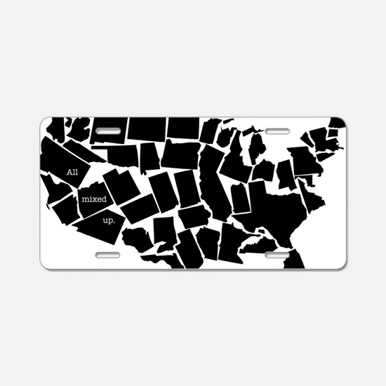 America: All Mixed Up  Aluminum License Plate