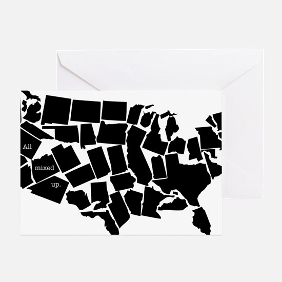 America: All Mixed Up  Greeting Card