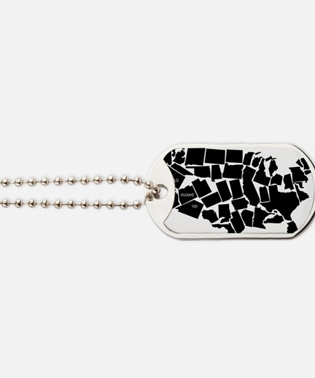America: All Mixed Up  Dog Tags