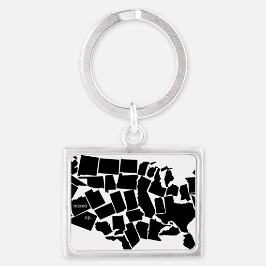 America: All Mixed Up  Landscape Keychain