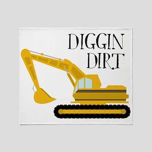 Digging Dirt Throw Blanket