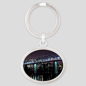 Walnut Street Bridge Oval Keychain