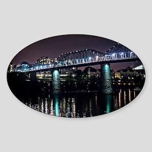 Walnut Street Bridge Sticker (Oval)