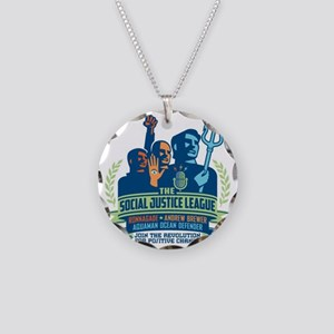 SJL Logo Necklace Circle Charm