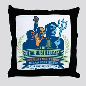 SJL Logo Throw Pillow