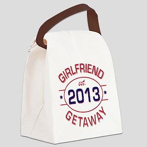 Girlfriend Getaway Est. Canvas Lunch Bag