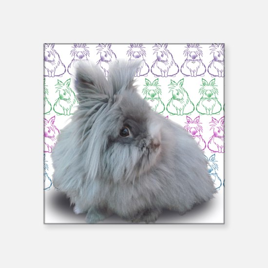 """Cleo with bunnies Square Sticker 3"""" x 3"""""""