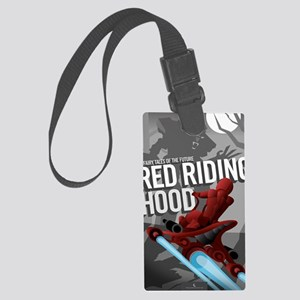 Little Red Riding Hood Sci Fi Large Luggage Tag