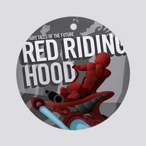 Little Red Riding Hood Sci Fi Round Ornament