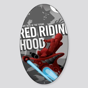 Little Red Riding Hood Sci Fi Sticker (Oval)