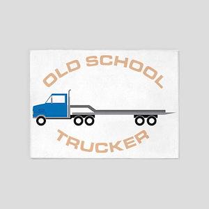 Old School Trucker 5'x7'Area Rug