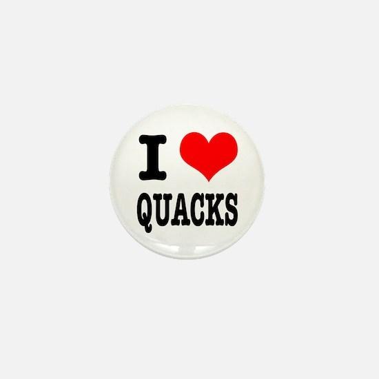 I Heart (Love) Quacks Mini Button