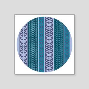 """Peace Love Recycle Dawn Square Sticker 3"""" x 3"""""""