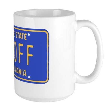Jagoff License Plate Large Mug