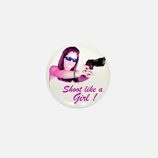 Shoot Like A Girl Mini Button