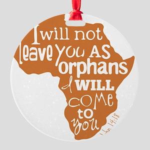 Jn. 14:18 Graphic Round Ornament