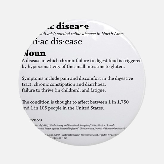 COELIAC  CELIAC DISEASE DEFINITION. Round Ornament