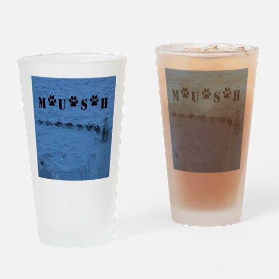 MUSH logo Drinking Glass