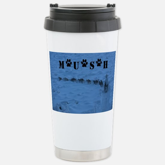 MUSH logo Stainless Steel Travel Mug