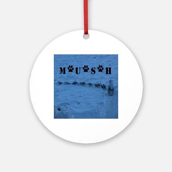 MUSH logo Round Ornament