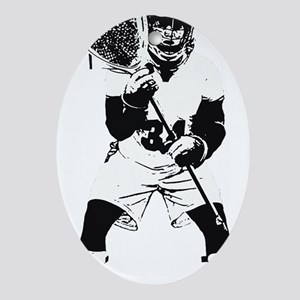 Lacrosse Goalie Behind Every Great T Oval Ornament