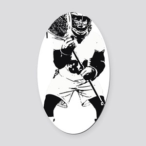 Lacrosse Goalie Behind Every Great Oval Car Magnet