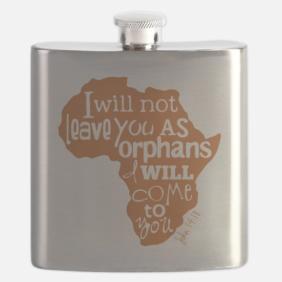 Jn. 14:18 Graphic Flask
