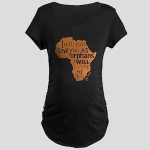 Jn. 14:18 Graphic Maternity Dark T-Shirt