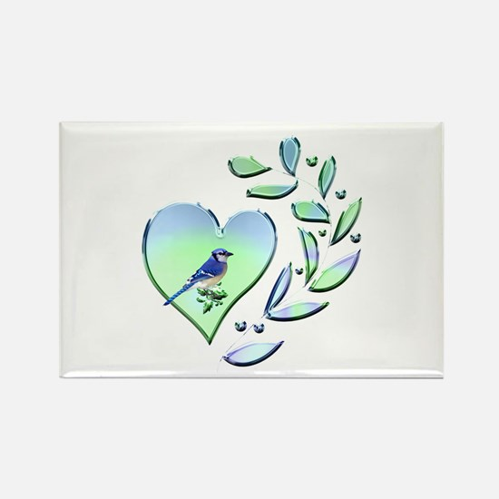 Blue Jay Lover Rectangle Magnet (100 pack)