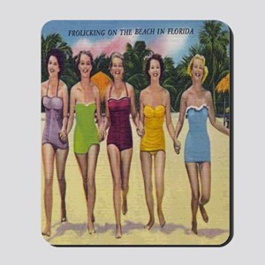 Vintage Florida Bathing Beauties Mousepad
