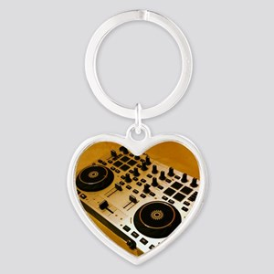 Midi Dj Heart Keychain