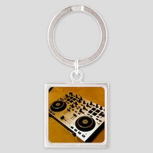 Midi Dj Square Keychain
