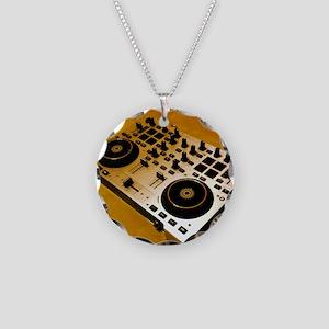 Midi Dj Necklace Circle Charm
