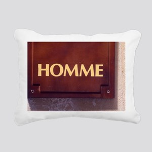 Homme/Man in French Rectangular Canvas Pillow
