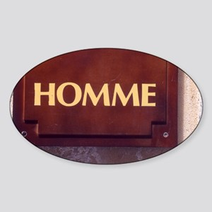 Homme/Man in French Sticker (Oval)