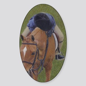 Young Rider and Pony Sticker (Oval)