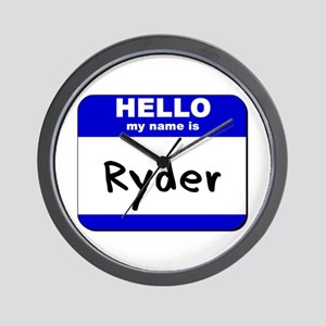 hello my name is ryder  Wall Clock