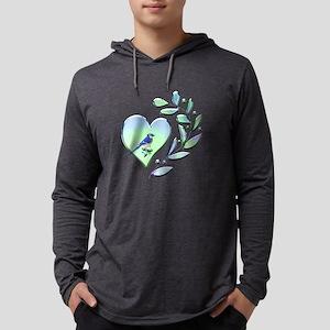 Blue Jay Lover Mens Hooded Shirt
