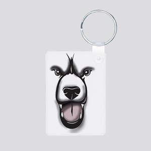 Bear Face 2 Aluminum Photo Keychain