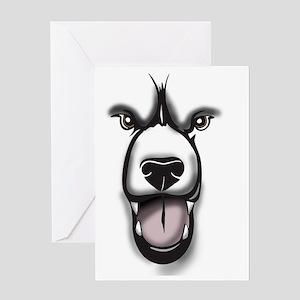 Bear Face 2 Greeting Card