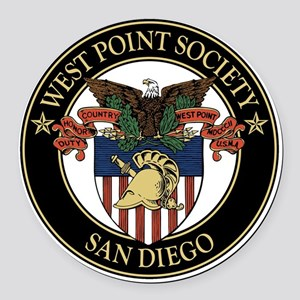 West Point Society of San Diego Round Car Magnet