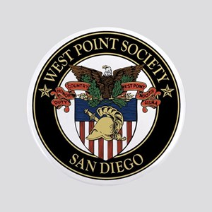 """West Point Society of San Diego 3.5"""" Button"""