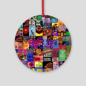 Photo Collage Round Ornament