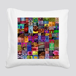Photo Collage Square Canvas Pillow