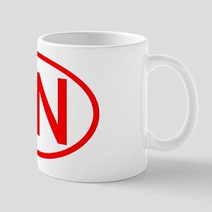 SN Oval (Red) Mug