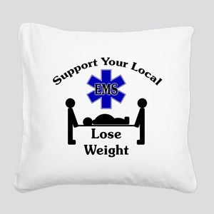 SupportEMS Square Canvas Pillow