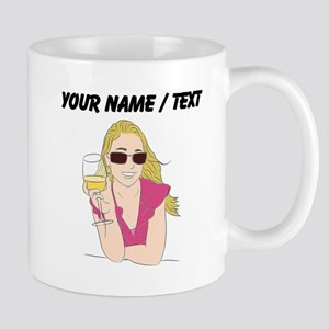 Custom Woman With Wine Mugs