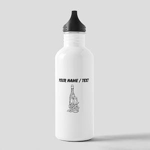 Custom Wine Glass And Bottle Sports Water Bottle