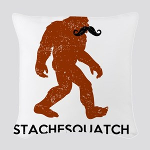 Stachesquatch Woven Throw Pillow